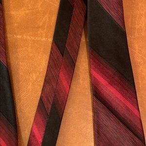 Other - Vintage 1960 striped red hombre silk skinny tie